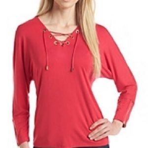 Calvin Klein black dolman sleeves blouse